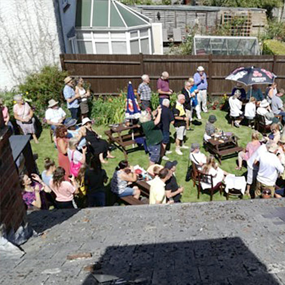 Photo of the Garden Opening at The Maybush Inn, Great Oakley.