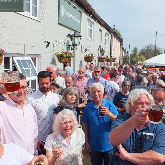 Photo of the Re-Opening of The Maybush Inn, Great Oakley.